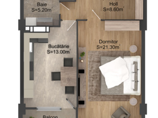 Чеканы - однокомнатная  квартира -52 кв.м -26000 евро!