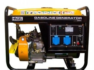 Генератор 2,5 кВт 220 В бензиновый, Hagel 3500CL/Generator 2,5 kW 220 V benzină, Hagel 3500CL/5050L