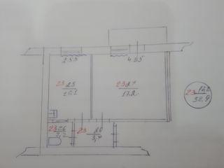 1-комнатная квартираб Дрокия