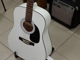 Гитара акустическая Martinez новинка белая !