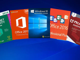 Windows 7. 8. 10  Microsoft Office 2016, 2019, Antivirus Kaspersky, McAfe la cele mai mici preturi