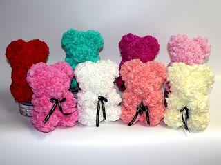 Мишки из 3D роз, самый популярный подарок!  Всего за 570 лей!