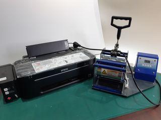 Epson l100+ termopress (cu cerneala pentru sublimare), (sublimare pe cana)