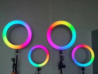 Кольцевая лампа RGB 33см с держателем для телефона и штативом+1 лампа в подарок/Lampa inelara+cadou