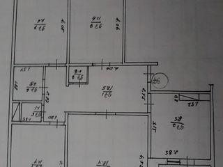 Se vinde apartament cu 4 odai in Ungheni