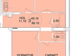 Vind apartament cu planificare reușita, 3 odai, str.Sprincenoaia
