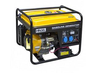 Генератор 6.5 кВт 220 В бензиновый, HAGEL 7500 CLE/Бесплатная доставка/13.296 lei