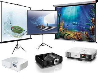 Аренда яркого HD проектора и экрана.