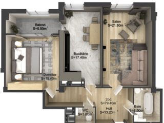 Чеканы - Двухкомнатная квартира -72 кв.м -36000 евро!