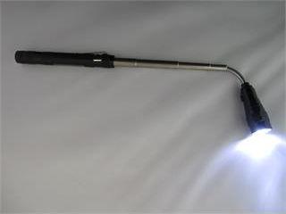 Светодиодный фонарь с выдвижной головкой и магнитом.