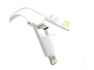 Cablu Tellur 2 IN 1 microUSB Apple iPhone,iPad (lighting) nou (credit-livrare)/ кабель Tellur 2 IN 1