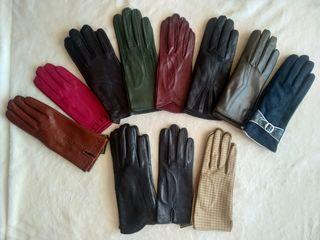 Качественные кожаные лайковые перчатки