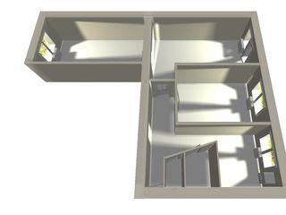 3 ком. квартира в Бричень (второй этаж, середина дома)