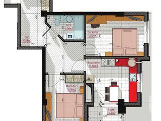 Ap. cu 2 camere decomandatate la 56m2 et. 2 25200€