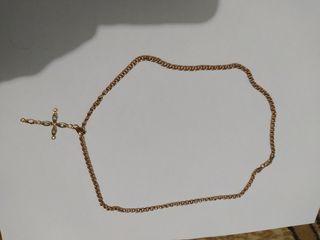 цепочка золотая с крестиком