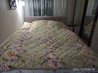 Двухспальное евро одеяло с овечьей шерсти