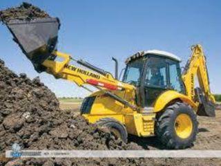 Lucrari cu buldoexcavator se poate transfer