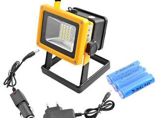 Аккумуляторный фонарь-прожектор