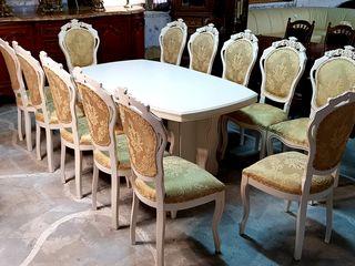 Masa, scaune, masa alba, scaune , mese , scaune importate din europa, белый стол, стол и стулья...