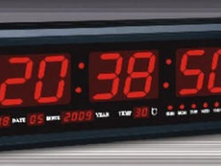 LED цифровые часы крупные 0,5mX0.2m настенные