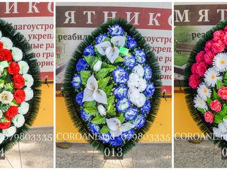 Траурные венки 80см с доставкой по всей Молдове. Ассортимент, качество, низкие цены!