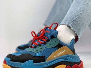 Balenciaga Triple S Blue Orange Unisex