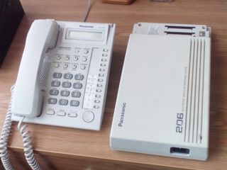 Panasonic 206 electronic modular switching system  +  Panasonic KX-T7730 advanced hybrid systed