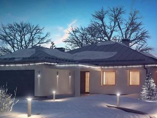 Строительство СИП домов в Молдове. Большой дом в американском стиле.