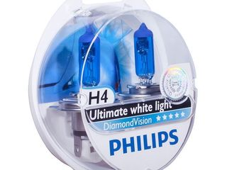 Lampi auto Philips Diamond Vision 5000K, Xenon Efect, LED Efect 4300K Livrare