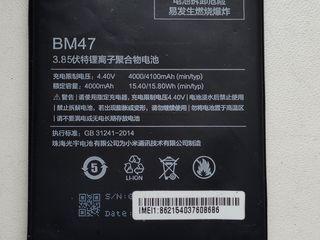 Se vinde 2 acumulator pentru Xiaomi Redmi 3 - 3S - 4X - 3X ( BM47) nou/folosit