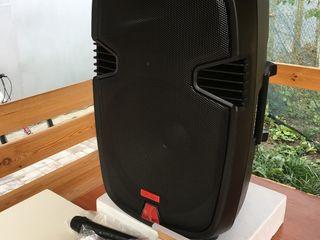 Boxa eurocraft''-1530 cu acumulator 2 Microfoane,  equalaizer, pleyer,mp-3,bluetooth !!! la 4000 lei
