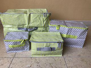 Новый набор из 4-х складных коробок для хранения