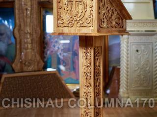 Atelierul manastirii produce: icoane. chivote. iconostase. rastigniri. mobilier bisericesc