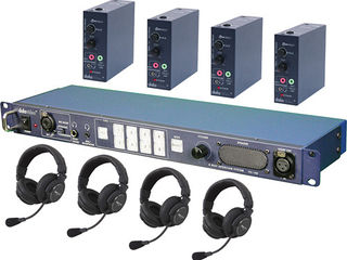 Datavideo ITC100HP2K - ITC-100 Wired Intercom System with Four HP-2A Headsets Kit