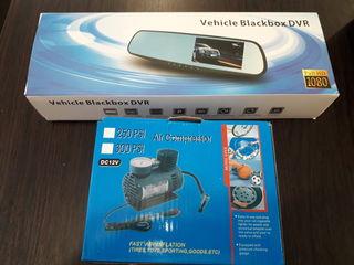 """Camera-oglindă  pentru mașină ,,Vehicle Blackbox DVR"""" + cadou compresor"""