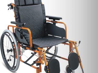 Carucior invalizi din aluminium cu spatar reglabil Инвалидная кресло коляска с регулировкой спинки