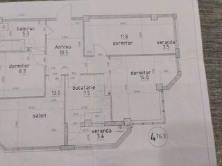 Apartament, 4 camere, 76 mp.Bloc nou! Sîngera, etajul 2 din 9