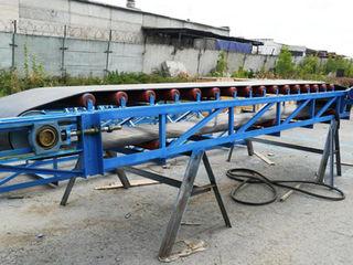Ленточный транспортер щебень ролики резиновые к транспортерам