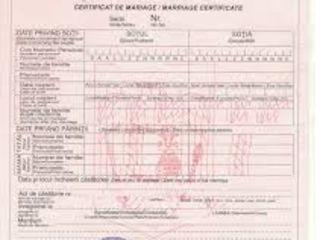 Transcrierea certificatelor de nastere si casatorie romanesti