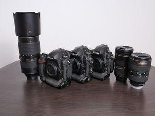 Nikon D3, D3X, 28-70mm, 24-70mm, 80-400mm + 50mm