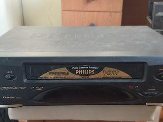 Видеомагнитофон vhs philips vr297 multi sistem, turbo drive, osd bilingual - 490lei отлично работает