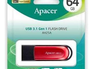 USB флеш накопитель Apacer 64GB AH25A Black USB 3.1 Gen1