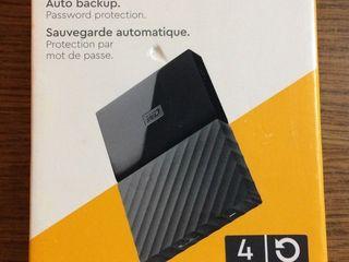 WD - My Passport 4TB External USB 3.0 Portable Hard Drive