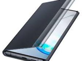 Husa Samsung Galaxy Note 10+, Flip Clear View EF-ZN975, Black - 400 lei  оригинал