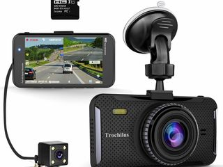 Видеорегистратор Trochilus 1080P, камера заднего вида, обзор 170, экран 4, 32gb - 850 лей (новый)