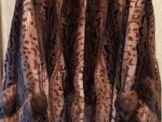 Новая итальянская норка лёгкая, леопардовый принт L-XXL - 2500€ с выставки, документы, чек на 5450$,