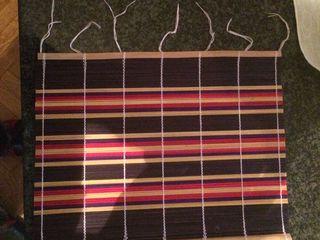 Настольные салфетки, с натуральных деревянных пластинок (соломки ). Ручная работа.