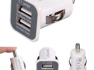 Автомобильное зарядное устройство Usams Car Charger 2xUSB 2.1A для GSM,планшетов и навигаторов