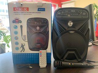 Boxă karaoke portabilă + LED disco incorporat