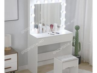 Гримерный стол с зеркалом белый 80